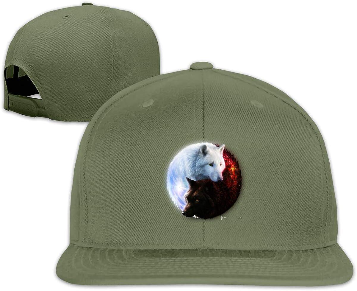Galaxy Wolf Classic Flat-Brimmed Trucker Hat Baseball Cap