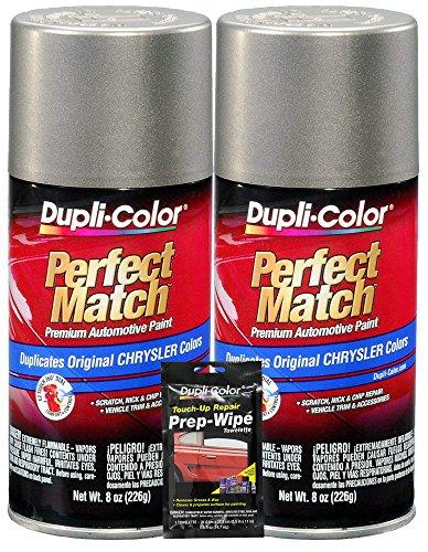 Dupli-Color Light Almond Pearl Perfect Match Automotive Paint for Chrysler Vehicles - 8 oz, Bundles with Prep Wipe (3 Items)