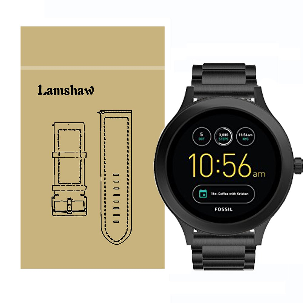 Lamshaw Smartwatch Band for Fossil Q Venture/Fossil Gen 4 Q Venture HR,Stainless Steel Metal Replacement Straps for Fossil Q Venture,GEN 3 Smartwatch ...