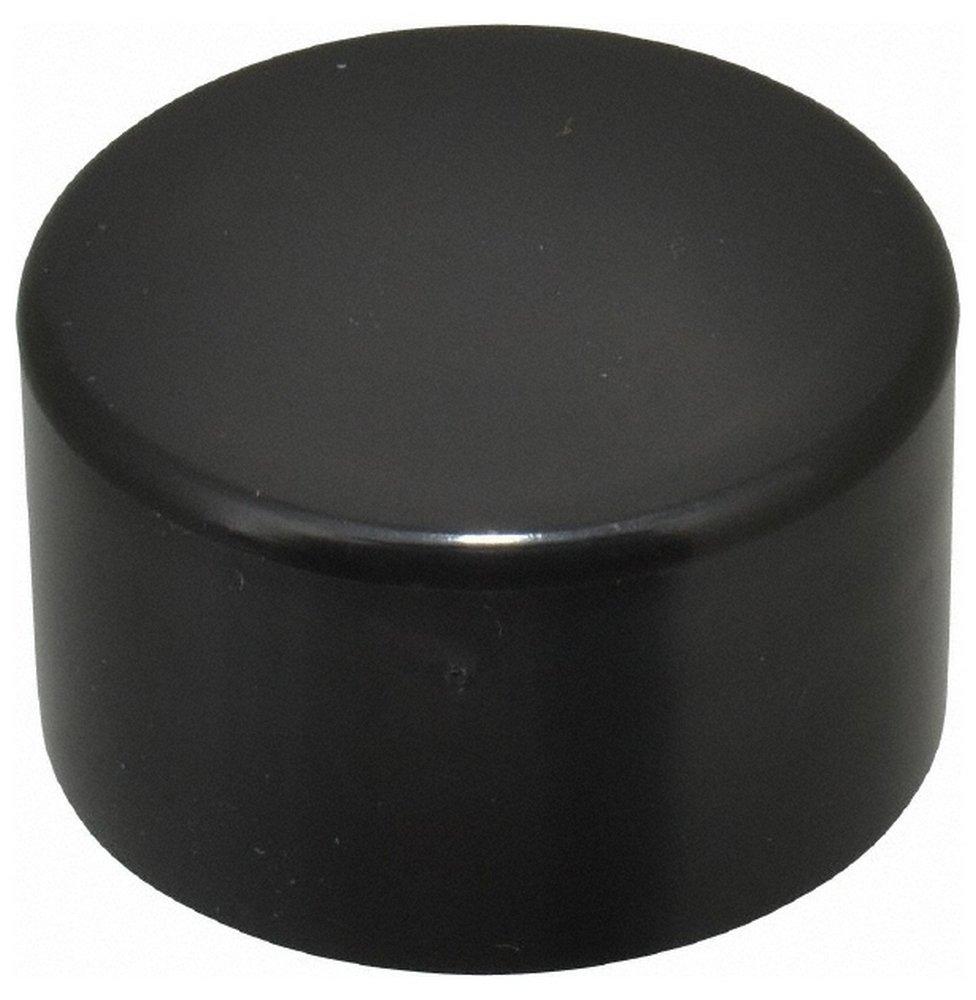 1-3/4'' ID Round Head Cap, Polyethylene, Black 50 Pack