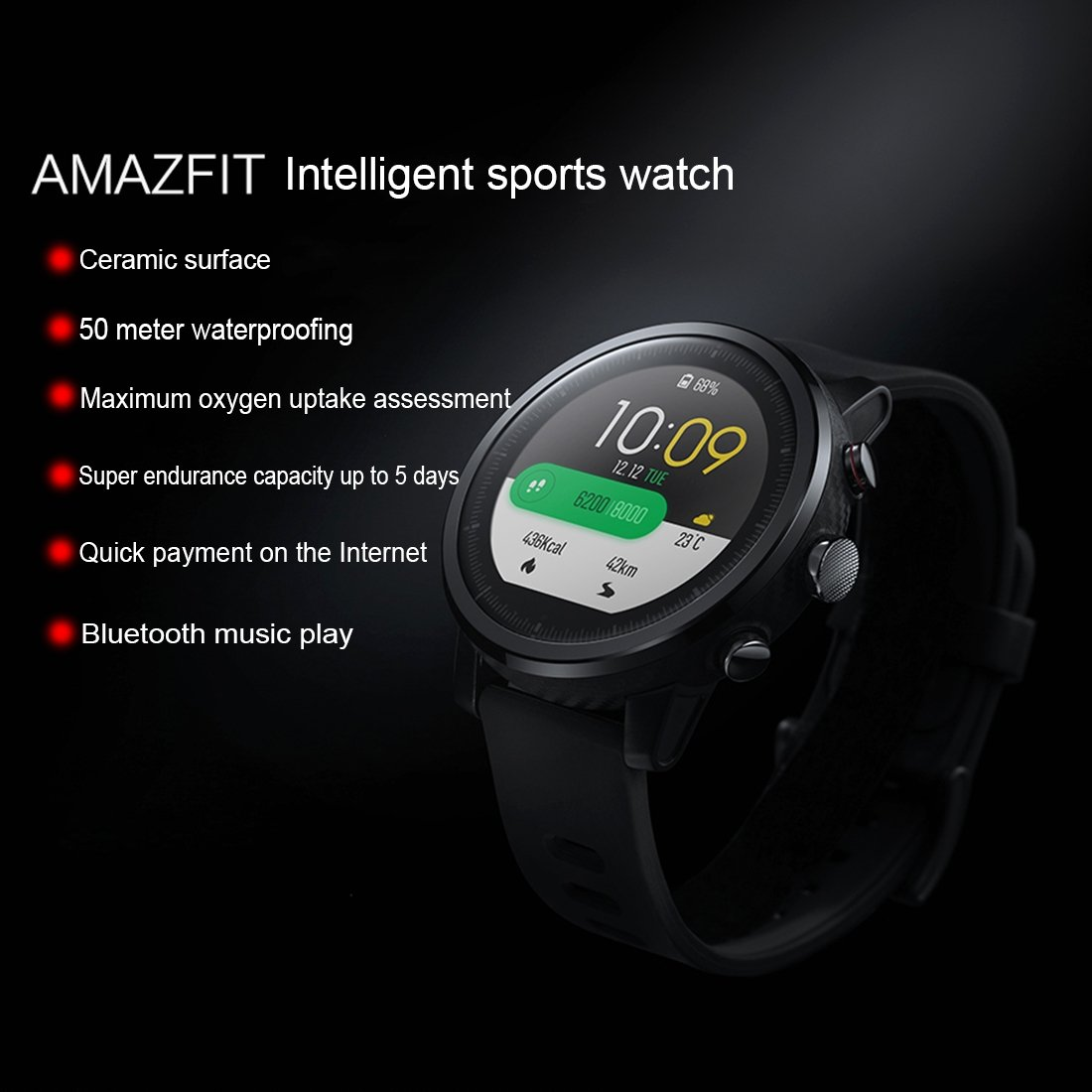 Smart Watch Original Xiaomi huami amazfit Pace 2 Stratos Smart Sports Watch pantalla OLED de fitness Rastreador GPS Bluetooth Certificado IP57, ...