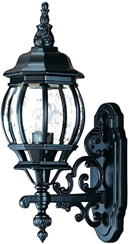 Acclaim 5150BK Chateau Collection 1-Light Wall Mount Outdoor Light Fixture, Matte Black