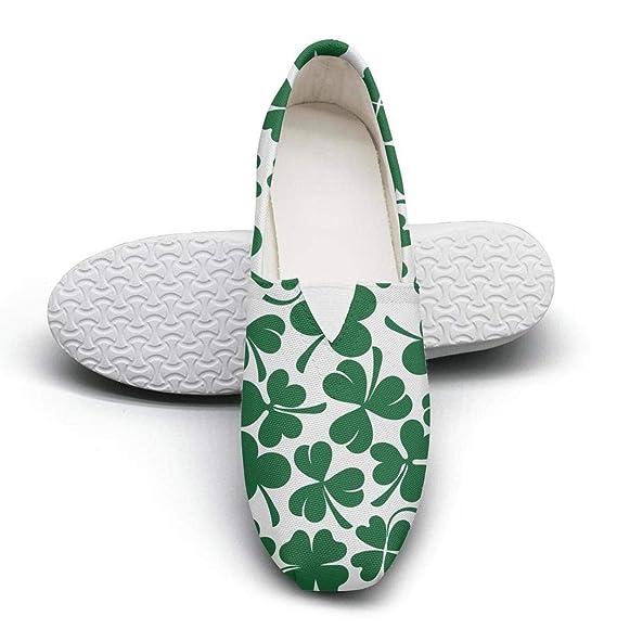 c6834438624ac Amazon.com: Women's St Patricks Lucky clover shamrock fashion casual ...