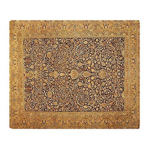 Antique Persian Kerman Rug (CafePress - Antique Kerman Persian Rug Geometric - Soft Fleece Throw Blanket, 50
