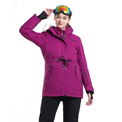 FELICIG Chaqueta de esquí de Snowboard para Mujer Chaqueta de Nieve Impermeable a Prueba de Viento
