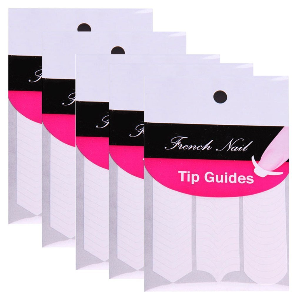 Amazon.com : French, Chevron & Teardrop Nail Tip Guides Stickers ...