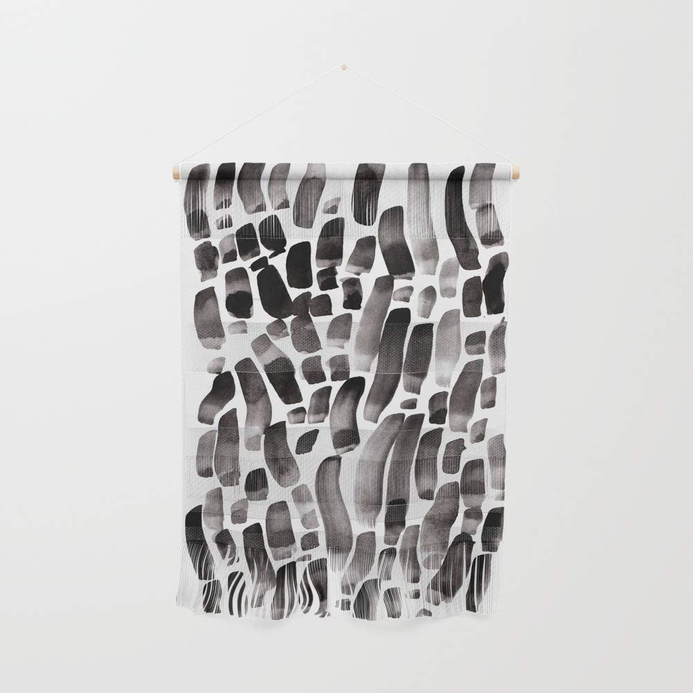 Society6 Wall Hanging, Size Small 11 1/4'' x 15 1/2'', Ink Dance by budikwan