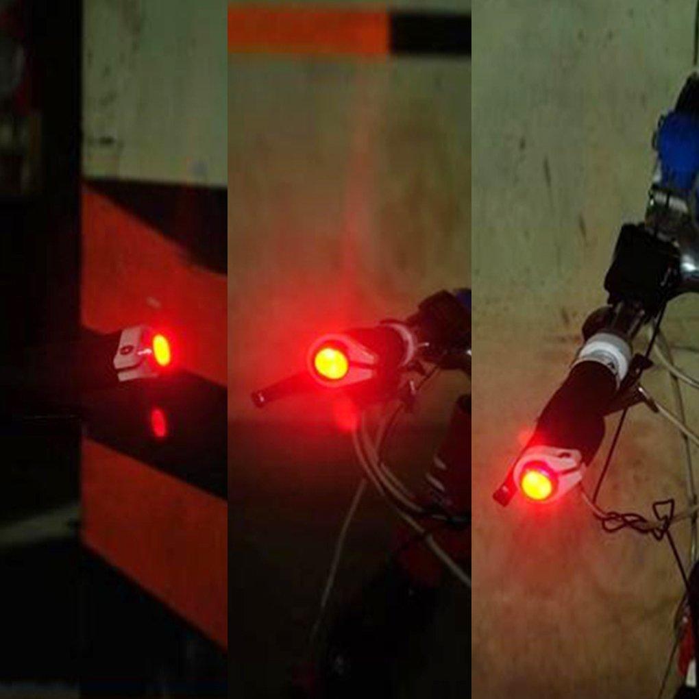 2 pezzi Masterein tappi per manubrio bici sicurezza con luci LED di segnalazione