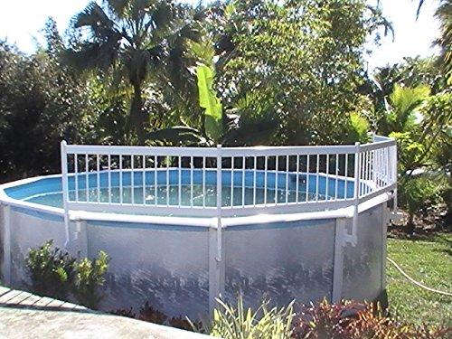 (SmartPool EST145 Above Ground Pool Safety Fence Base kit A, White, Large)