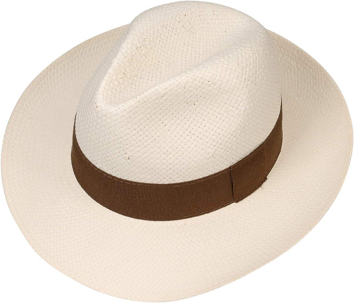 Lipodo Sombrero de Paja Palermo Hombre Made in Italy Sol Bogart Playa con Banda Grosgrain Primavera//Verano