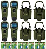 Thermacell Family Camper's Kit : 4 Mosquito Repellent Appliances (Olive), 4 Holsters, 8 Refill Packs