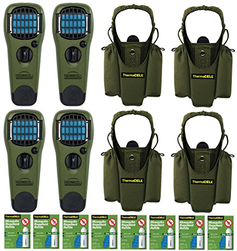 Thermacell Family Camper's Kit : 4 Mosquito Repellent Appliances (Olive), 4 Holsters, 8 Refill Packs by Thermacell
