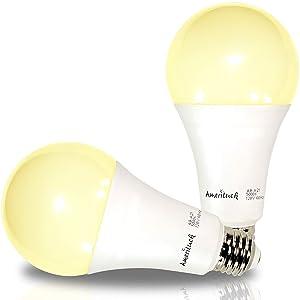 AmeriLuck 3-Way LED Light Bulb A21, 50-100-150W Equivalent (3000K | Warm White, 2 Pack)