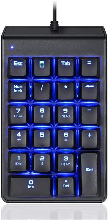 Belleashy Gaming Keyboard Mecánica Teclado de Ordenador 22 ...