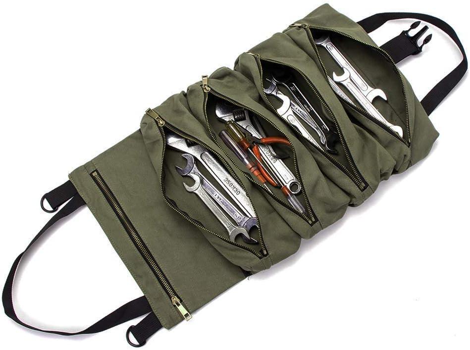 Fermeture Éclair Toile Sac à outils avec pendaison boucle Multi-Purpose Heavy Duty étui S