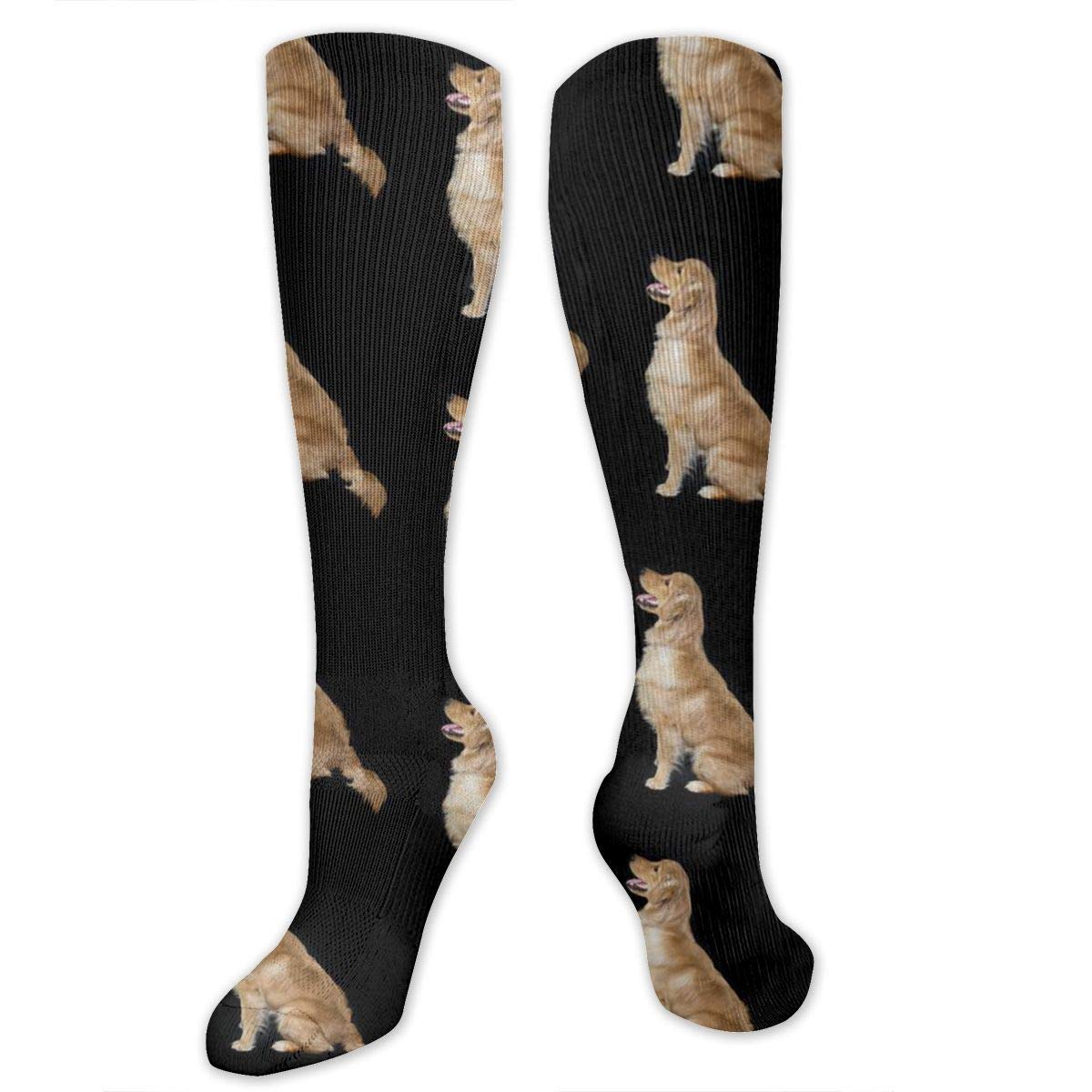 Golden Retriever Dogs Mens//Womens Sensitive Feet Wide Fit Crew Socks and Cotton Crew Athletic Sock