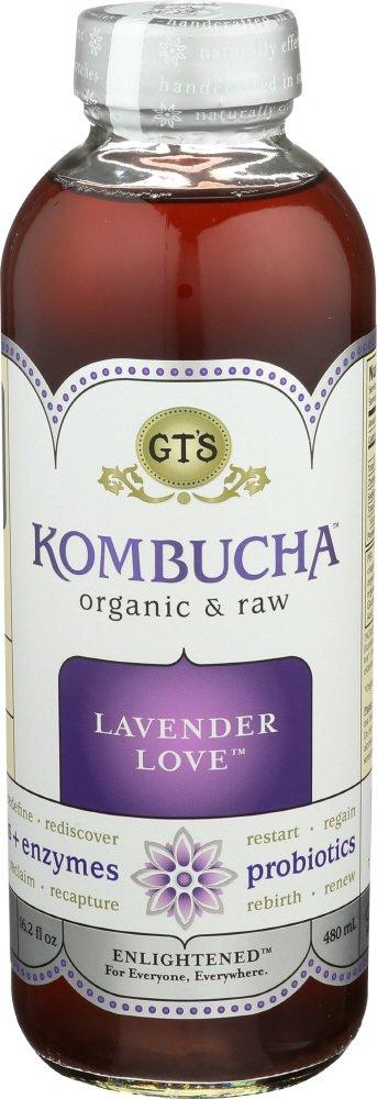 GT'S ENLIGHTENED KOMBUCHA, Lavender, 16 Ounce (Pack of 12)