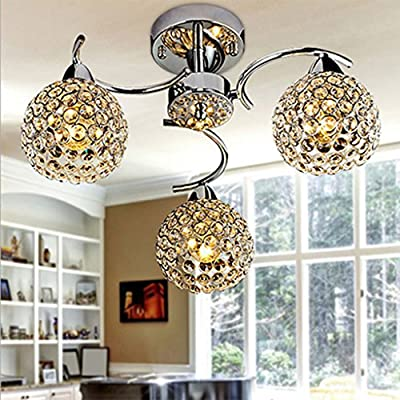 SX-ZZJ Indoor Lighting Crystal Chandeliers, Ceiling Chandeliers, Living Room Lights Bedroom Ceiling Lamps Decorative Lighting Lamps Restaurant Crystal Lamp