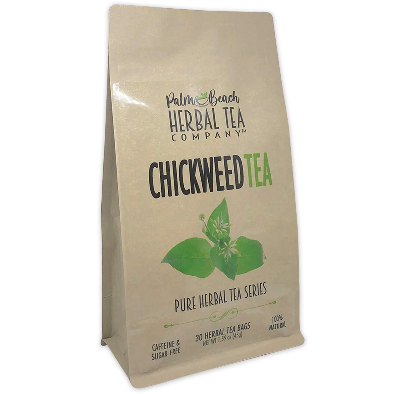 Chickweed Tea - Pure Herbal Tea Series by Palm Beach Herbal Tea Company (30 Tea Bags) 100% Natural