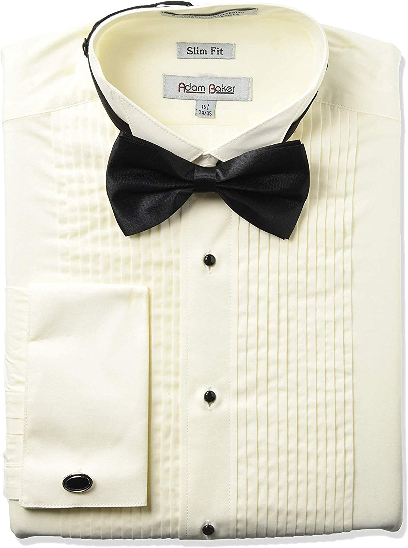 Milani Mens Tuxedo Shirt with French Cuffs