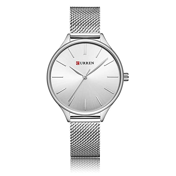 treeweto para mujer analógico relojes cuarzo relojes de pulsera Business Casual reloj único vestido reloj Números Romanos moda correa de plata relojes ...