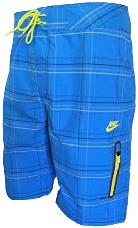 Mens Nike Plaid Prodigy board surf swim beach shorts 417506