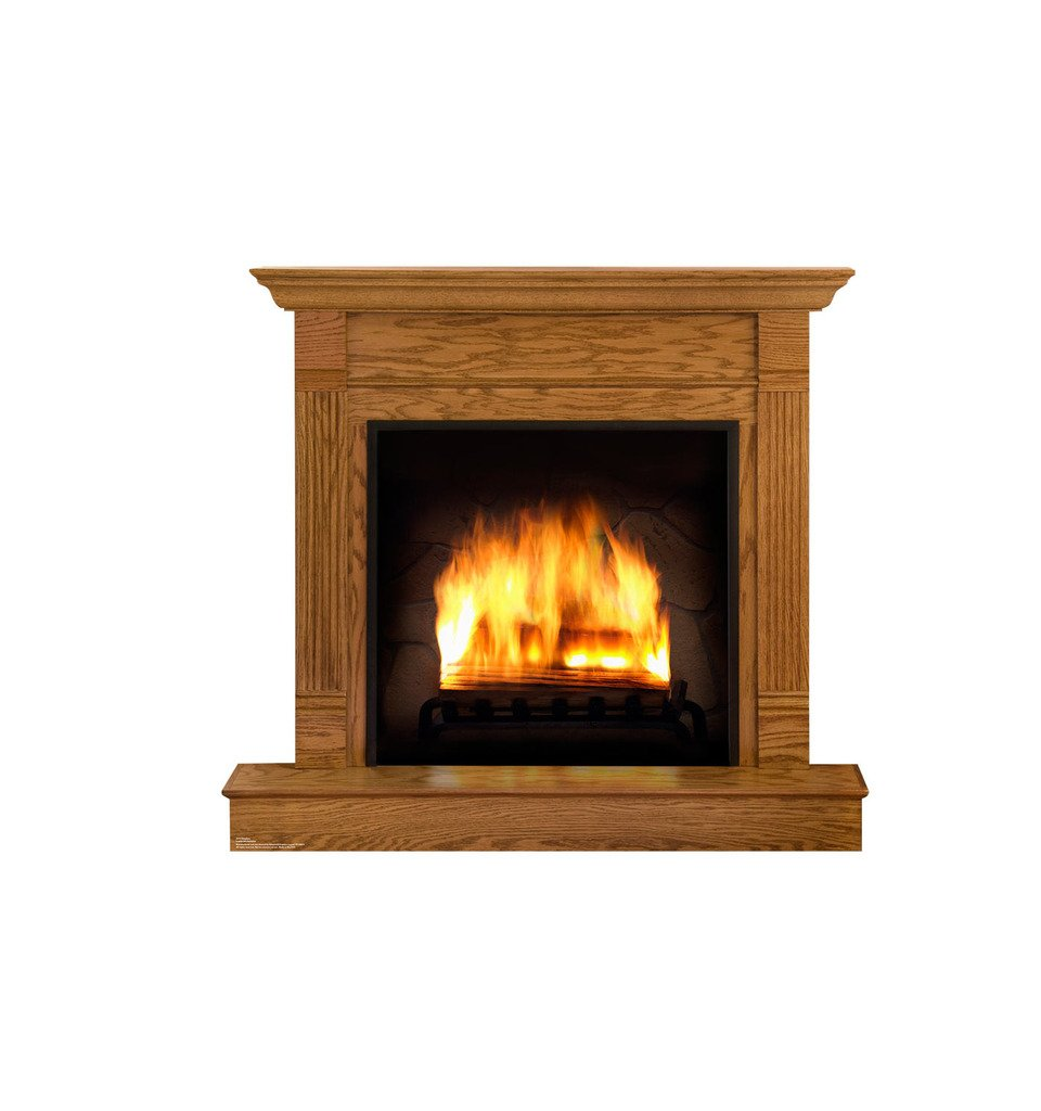 amazon com fireplace advanced graphics life size cardboard