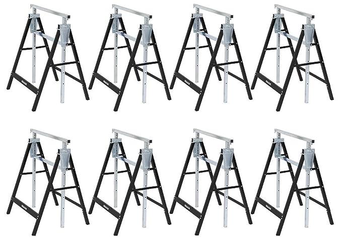 8er Set Ger/üstb/öcke Klappb/öcke Unterstellbock h/öhenverst 80-130 cm 180 KG