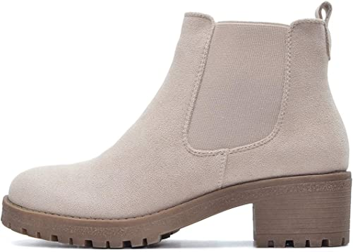 Kayla Shoes© Chelsea Boots Stiefelette in Schwarz oder Beige