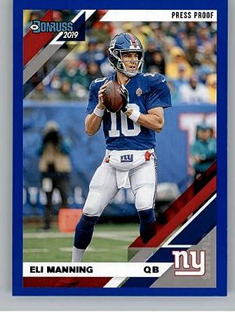 eli manning jersey card