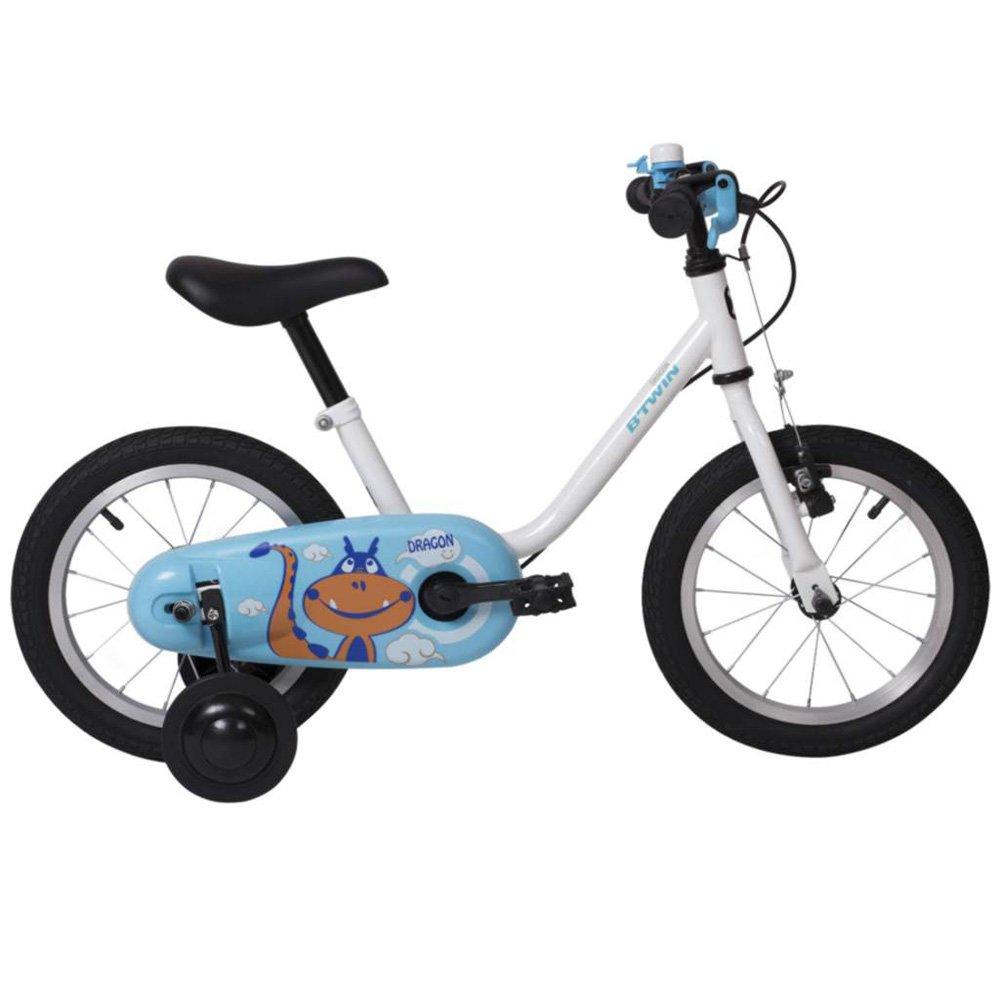 HAIZHEN マウンテンバイク ガールズキッズバイク1スピードスポークホイール完全に密閉されたチェーンガードとイージーリーチブレーキ、ブルー 新生児 B07CCKCF6S