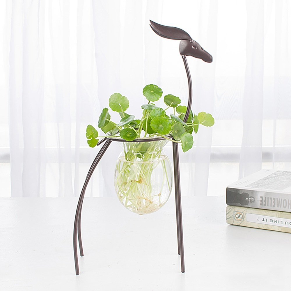 LJHA huajia Flower Stand Wrought Iron Floor Stand Furniture Decoration Ornaments Flower Stand Balcony Indoor and Outdoor Flower Rack Size Optional (Size : 2034cm) by GYH Flower stand