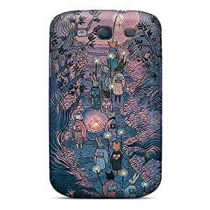 For Galaxy S3 Premium Tpu Case Cover The Rabbit Parade Protective Case by supermalls