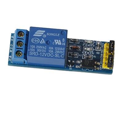 12V 1-canal Módulo Relé Alto Nivel Disparador + Optoacoplador Computadora 1 Chip