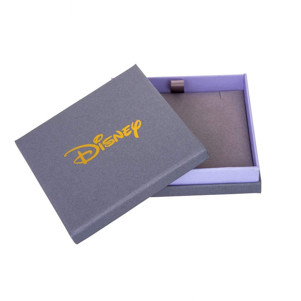 /Pendientes chapados de oro blanco con cierre de mariposa dise/ño con cabeza de Mickey Mouse Disney/