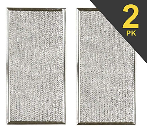2 Pack Microwave Grease Filter That Works With Whirlpool Model WMH53520AS1 by Microwave Parts