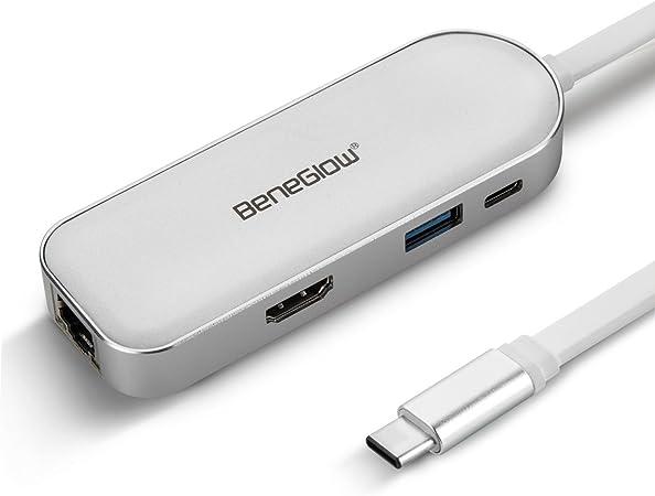 Beneglow 8 In 1 Usb Typ C Hub Mit Stromversorgung Hdmi Computers Accessories