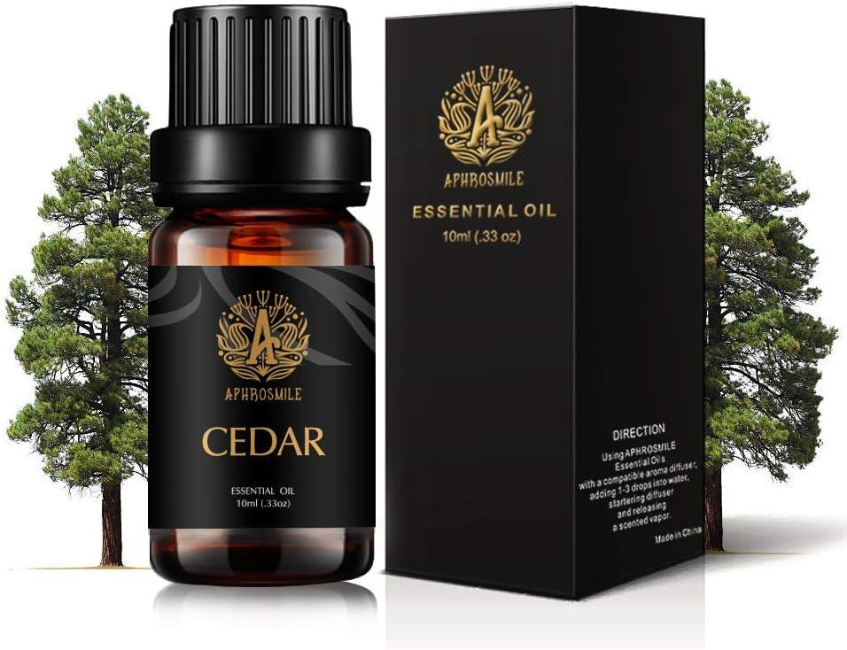 Aromaterapia Cedar aceite esencial, 100% puro cedro olor del aceite esencial para difusores, humidificador, Grado Terapéutico Cedar olor Aromaterapia aceite esencial fragancia para Inicio 0,33oz-10ml