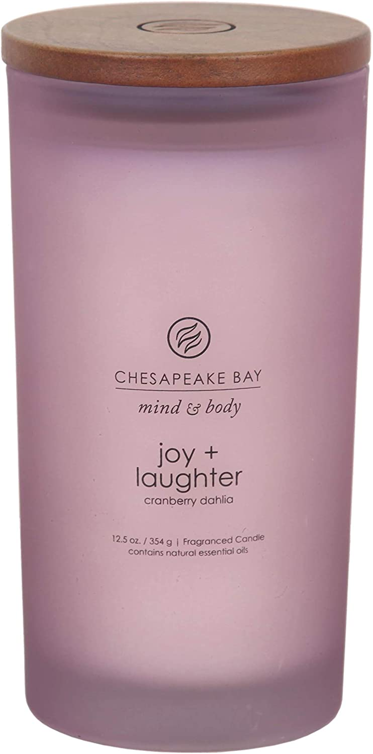 Chesapeake Bay Candle Scented Candle, Joy + Laughter (Cranberry Dahlia), Large