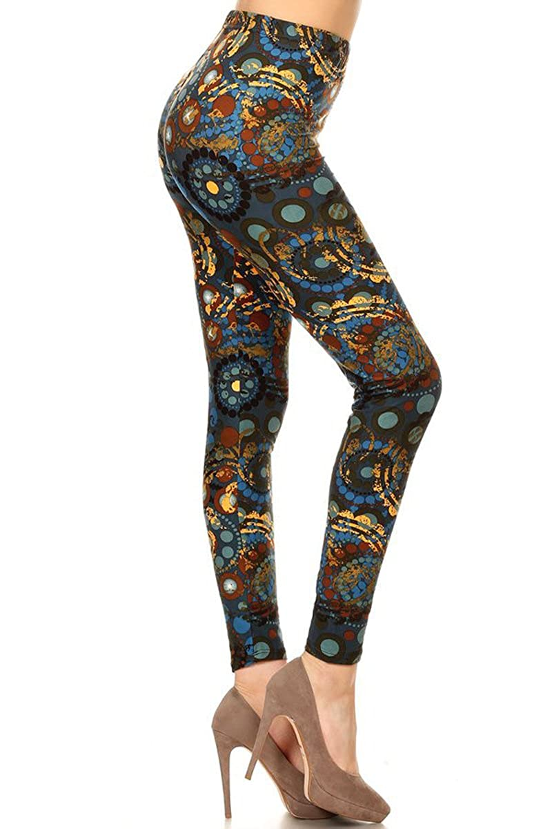 Leggings Depot REG/PLUS/3X5X Printed Women Fashion Leggings BAT9