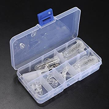 Bekleidung Zubehör 1 Set Brillen Nase Pad Reparatur Schrauben Werkzeug Box Optische Gläser Reparatur Kit Sonnenbrille Schraube Mutter Sortiment Set