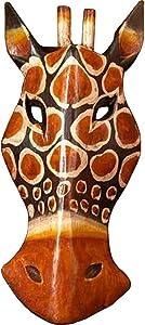 """AEVVV African Masks Giraffe Mask Home Decor Wood Carved African Giraffe Wall Hanging Safari Decor (Giraffe 8"""")"""