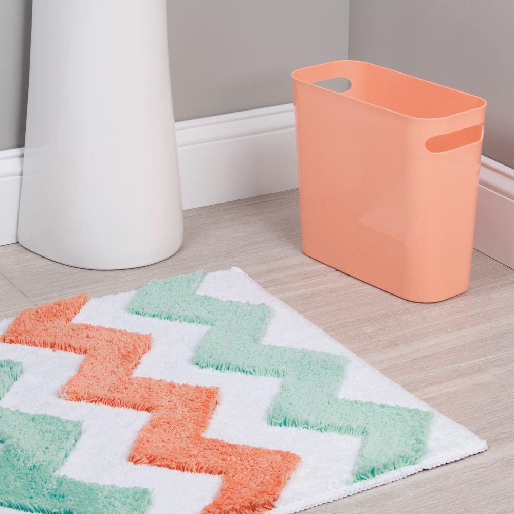 Interdesign Microfiber Bathroom Shower Accent Rug: InterDesign Microfiber Chevron Bathroom Shower Accent Rug