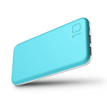 10000 mAh Batería Externa, 2 Puertos COOODI Cargador Móvil Power Bank Portátil para iPhone, iPad, Samsung y Otros Dispositivos, Azul