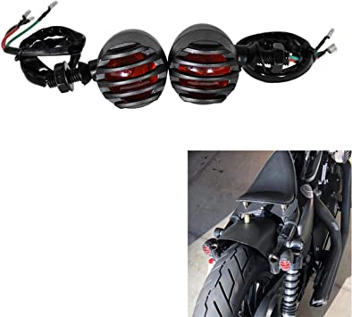 Motorcycle Turn Signal Light Bullet Style Amber Indicator Compatible for Chopper Bobber Cruiser Honda Suzuki Kawasaki Yamaha Harley Ducati BMW