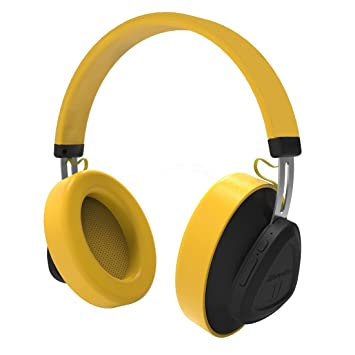 Bluedio TM Auriculares Bluetooth 5.0 inalámbricos portátiles On-Ear, Controla de Voz, con micrófono para teléfonos y música (Amarillo): Amazon.es: ...
