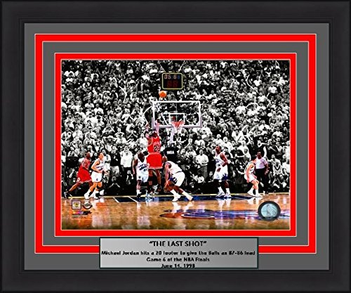 1998 Nba Finals Framed (Chicago Michael Jordan Last Shot, 1998 Finals 11