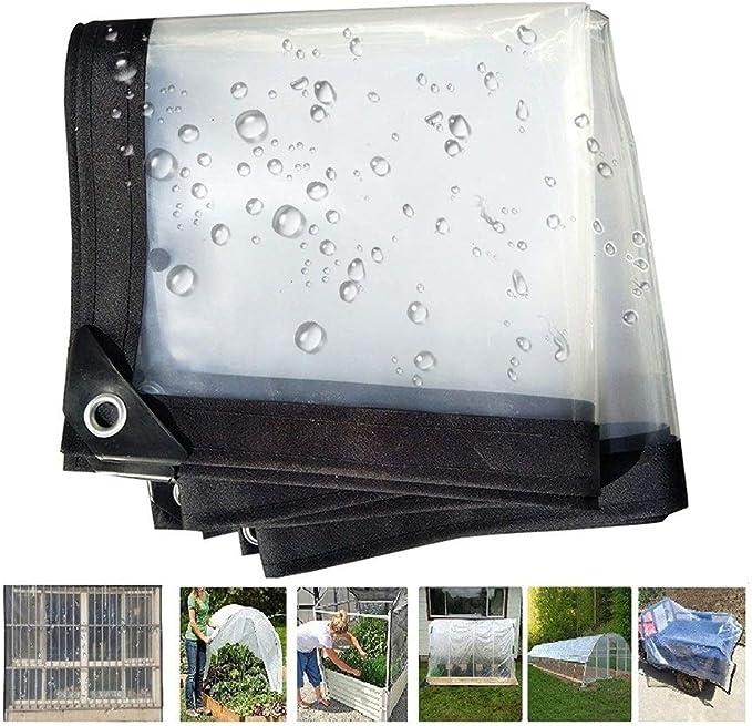 PENGFEI Transparente Lona De Protección Impermeable Suministros De Jardinería Cochera De Cortina De Cobertizo Vegetal, con Ojales Fácil De Instalar, 0.12MM (Color : Clear, Size : 1X1.5M): Amazon.es: Hogar