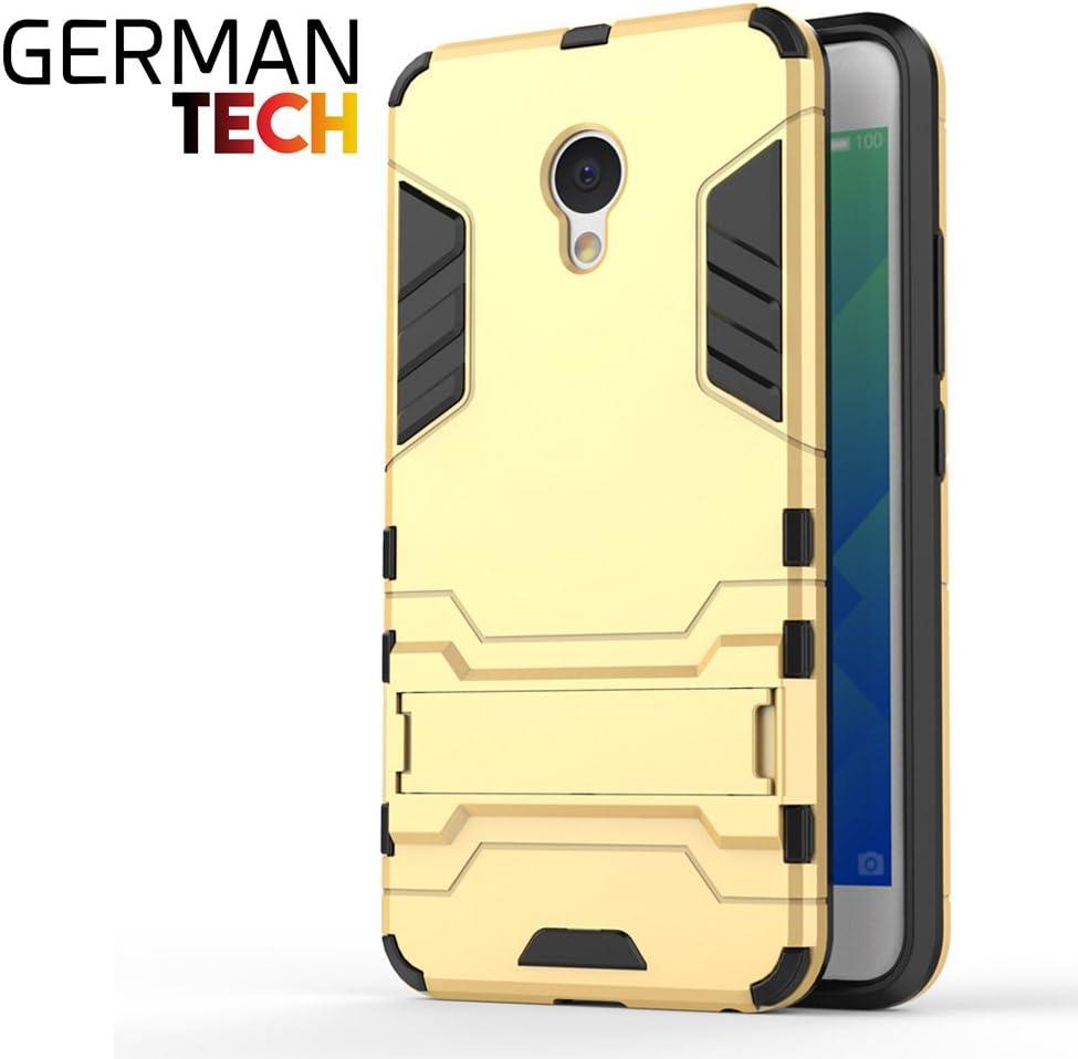 German Tech Cool Shield - Funda híbrida para Meizu M5, Color Oro ...