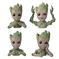 Flowerpot Treeman Baby Groot Succulent Planter Cute Green Plants Flower Pot (4 Styles...